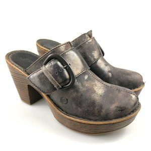 Born Womens Ibra Moro Mule Metallic Bronze Size 8